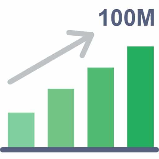 ยอดขาย 100ล้าน/ปี ในบริการ พนักงานส่งเอกสาร ทั้งแบบ รายเดือน รายวัน รายชิ้น รวมกัน